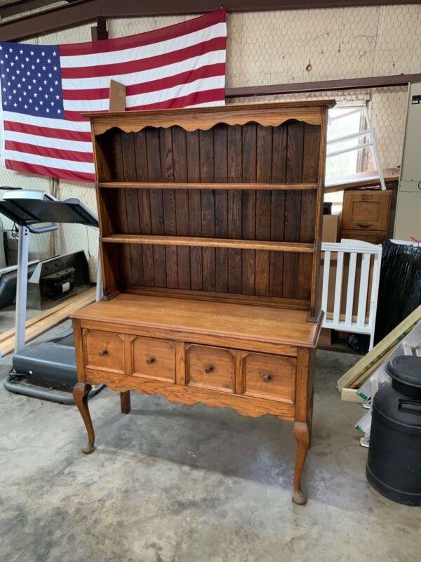 Antique Cupboard Buffet Hutch