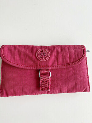 Kipling large wallet purse in raspberry, used but in good condition