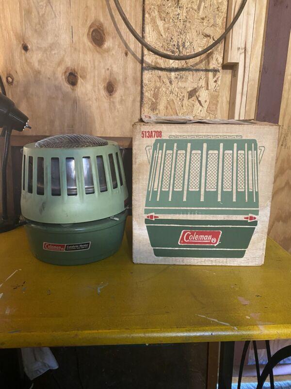 Vintage Coleman Catalytic Heater 513A708 Dial-Temp 3000-5000 BTU w/Box
