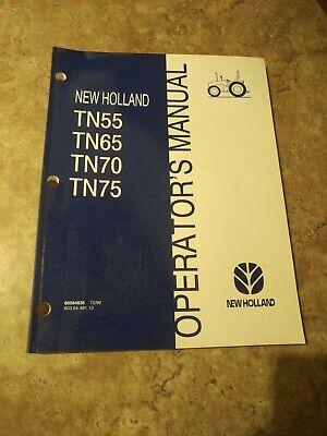 New Holland Tn55 Tn65 Tn70 Tn75 Tractors Operators Manual 1099
