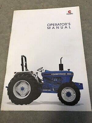 New Genuine Farmtrac 665 DTC Tractor Operators Operation Manual for sale  Shipping to India