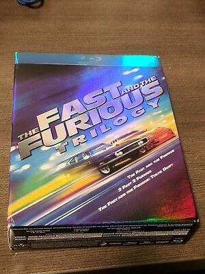 The Fast And The Furious Trilogy Slipcover + Cases + Digital Copies (No Blu-Ray)