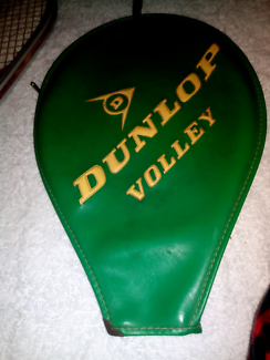 Vintage DUNLOP VOLLEY tennis racket cover