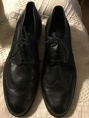 Size 9 Alfani Dorian Wing Tip  Black Oxfords Lace Up Mens Shoes Great Condition
