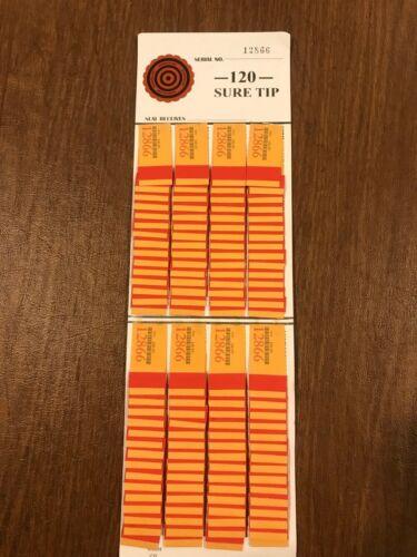 One  #120  Sure Tip Board (1-120) Bingo/Jar Tickets Free Shipping USA