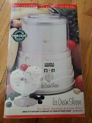 Maverick Ice Cream Shoppe Two Speed Automatic Ice Cream Maker #MIC-001 Open Box