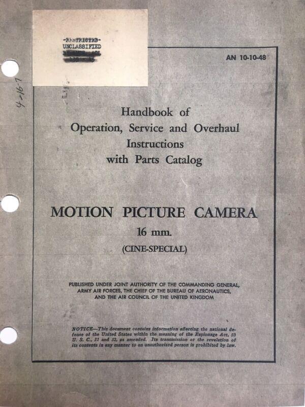 Cine-Kodak Special Repair & Service Manual-Military(Reprint)