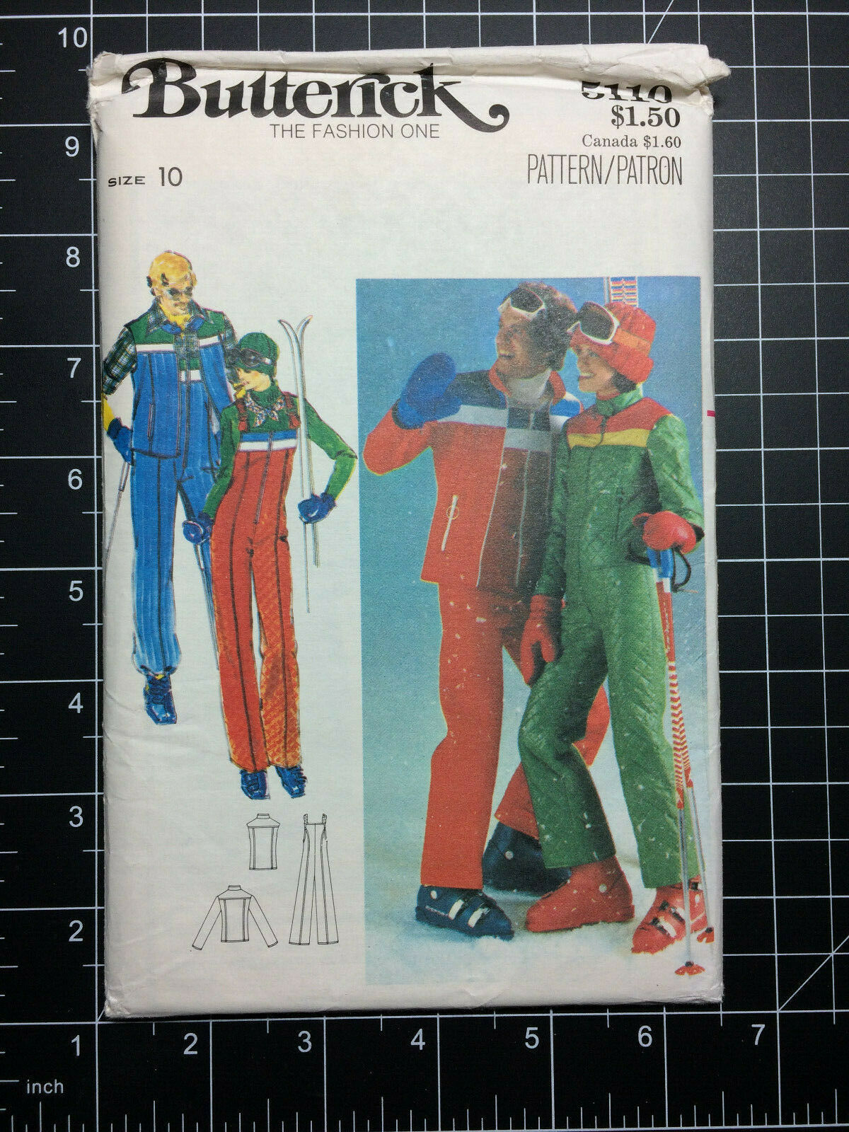 Butterick #5110 ~ Pattern 1970's Snowsuit Jacket Pants ~ Mis