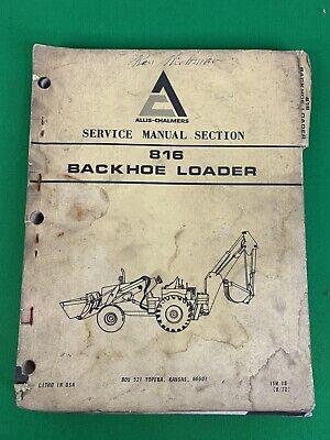 Oem 1970 Allis Chalmers 816 Diesel Backhoe Loader Service Manual