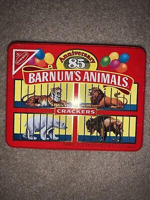 Vintage Barnum's Animals Crackers 85th Anniversary Tin 1987