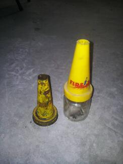 Oil bottle firezone plastic top & firezone tin top, 3 tintops Nowra Nowra-Bomaderry Preview
