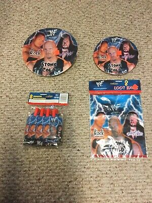 WWF Party Supplies Lot Rock Undertaker Stone Cold - Party Supplies Austin