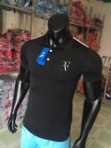 ROGER FEDERER RF ADVANTAGE POLO SHIRT DRI-FIT ( Grey, Black, White, Red, Blue)