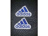 BLACK  /& White SET OF 3 Adidas// Emblem Embroidered Iron On Patches