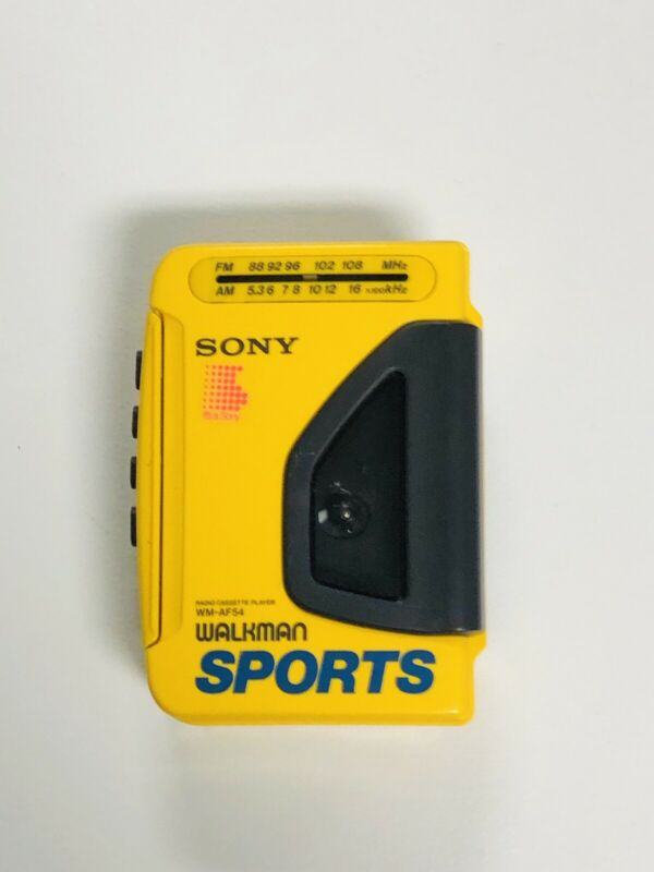 Vintage Sony Walkman Sports WM-AF54 AM/FM Radio Cassette Player Tested & Works