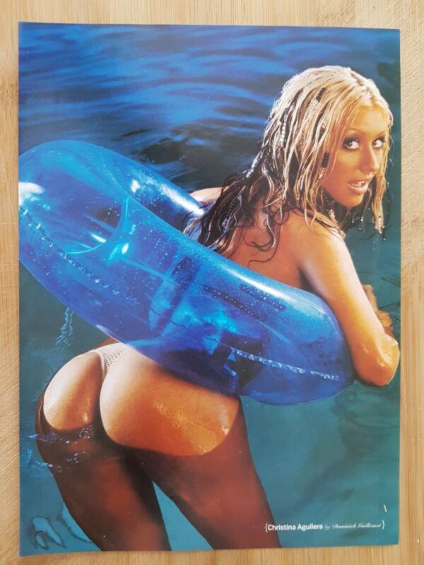 CHRISTINA AGUILERA magazine picture cutting poster App 22x30cm