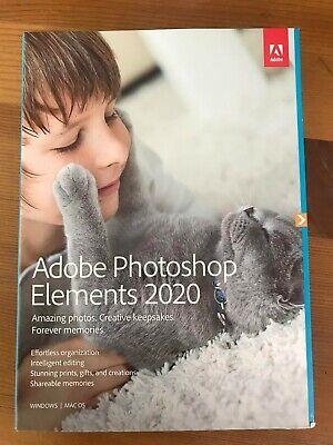 Adobe Photoshop Elements 2020 - PN 65299344 - PC/Mac Disc Version - New Sealed