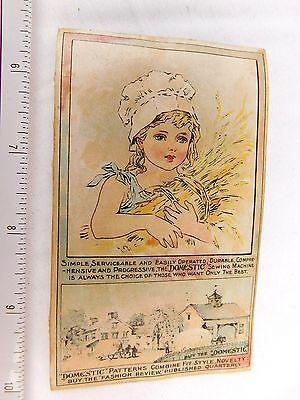 Cute Girl Pastel Wheat, Domestic Sewing Machine & Fashion Review Quarterly F49