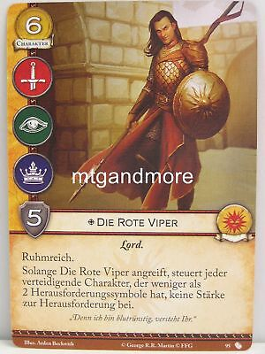 A Game of Thrones 2.0 LCG - 1x #095 Die Rote Viper - Oberyns Rache