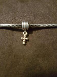 Authentic Pandora Cross Gold Dangle Charm excellent condition Morisset Lake Macquarie Area Preview