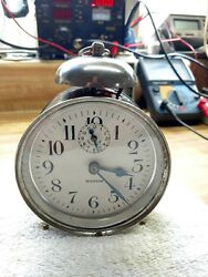 Rare Antique Westclox Monitor Style 2 Single Bell Alarm Clock-Circa 1928-Running