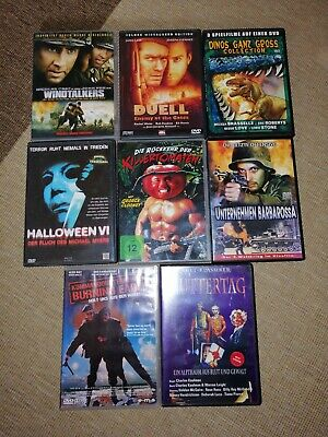 DVD Sammlung Halloween Killertomaten Windtalkers DVD's thriller horror Filme