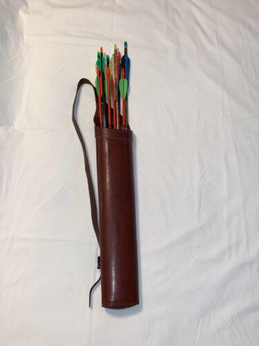 Vintage BEAR Leather Shoulder Arrow Quiver Archery Carrier 1960