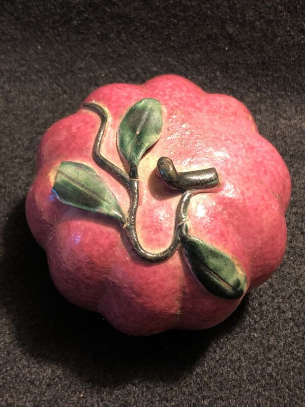Antique Chinese Porcelain Altar Fruit - Melon? - Outstanding Color!