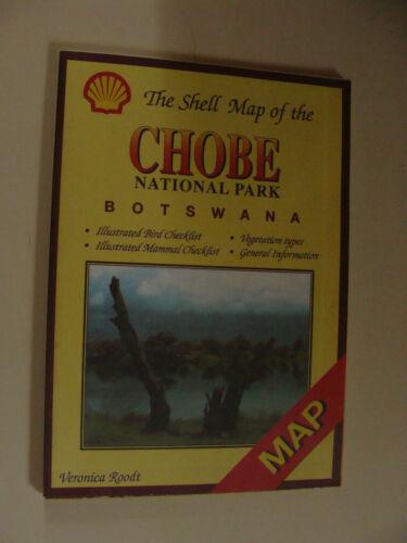 Shell Oil  Map of Chobe National Park Botswana Africa c 1998