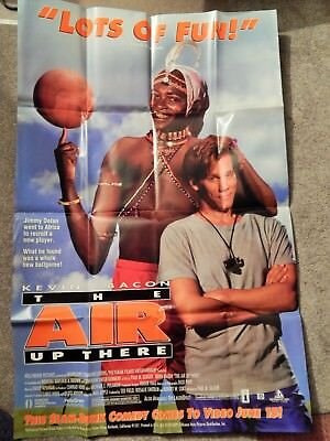 AIR UP THERE (VIDEO DEALER 40 X 27 POSTER!, 1990S) KEVIN BACON, BASKETBALL RARE
