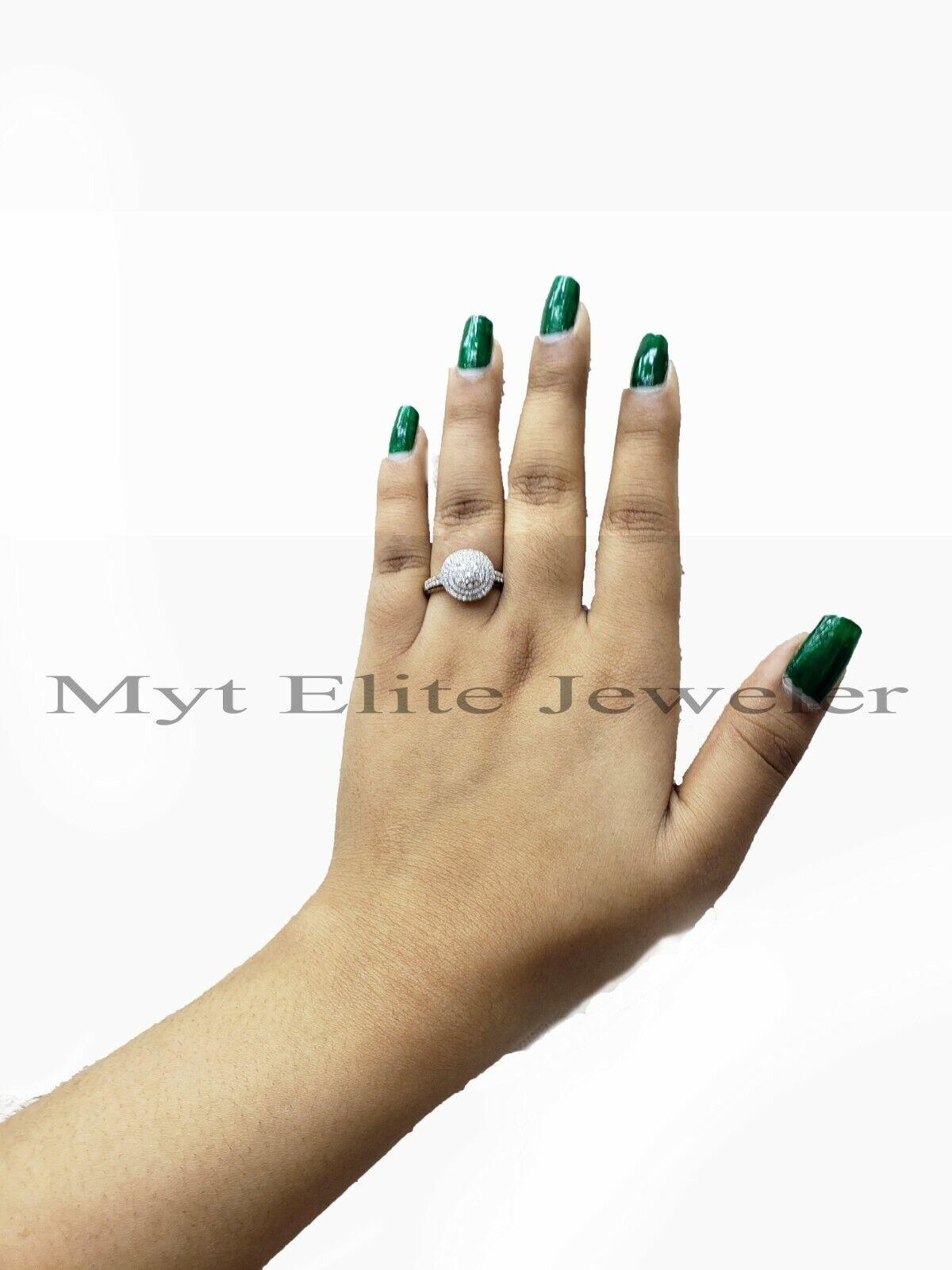14k Gold Ladies Diamond Ring for Wedding Engagement Ring Siz