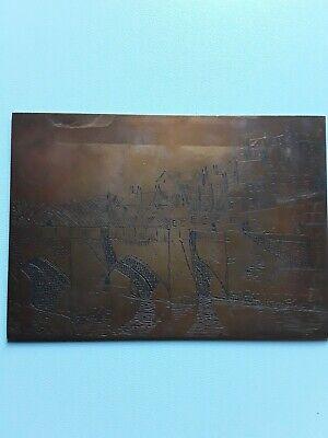 copper picture plate