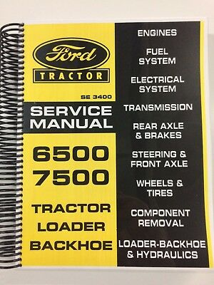 Ford 6500 7500 Tlb Tractor Loader Backhoe Service Manual Repair Manual 490 Pages
