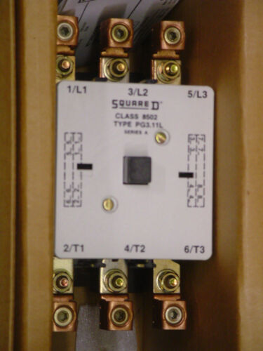 NEW! SQUARE D 8502 PG3.11 LV02  100A 120VAC CONTACTOR, FREE USA S/H