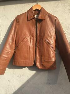 Women's tan/brown leather jacket Dee Why Manly Area Preview