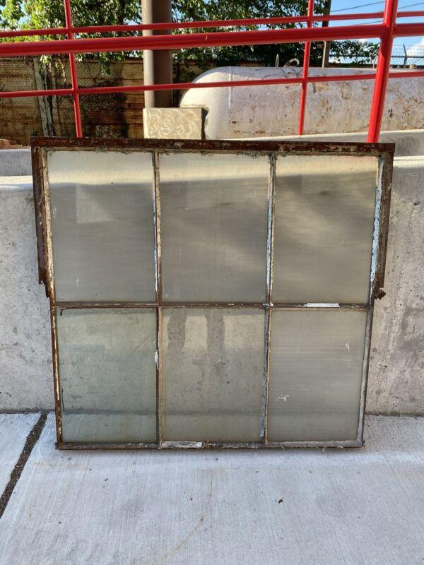 Reclaimed Vintage Industrial Factory Steel Framed Casement Glass Windows 6 Pane