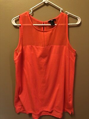 H & M Coral Tank Size Large
