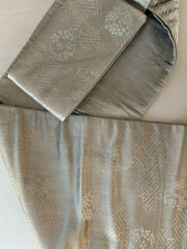 Vintage Japanese Black Silk Brocade Obi (Q13)