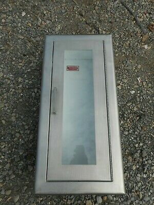 Larsens Stainless Steel Fire Extinguisher Cabinet Wall Mount With Window