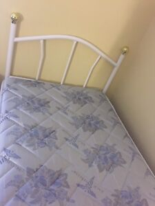 2 twin beds with box & mattresses for sale