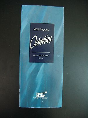 Montblanc Octavian Fountain Pen Catalog Brochure early 1990's 12 Pages 18339