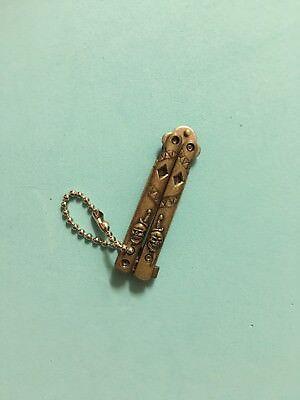 MINI butterfly knife Keychain key pendant