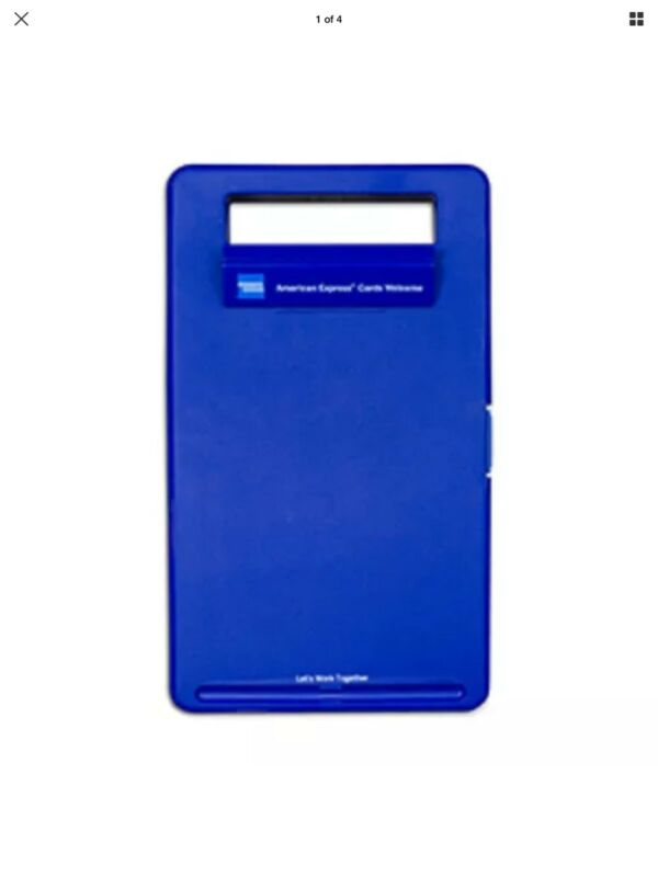 American Express Amex Merchant Mobile Work Station Clipboard & Storage Case NEW