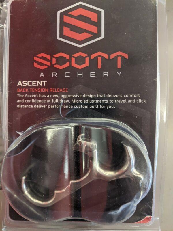 Scott Archery Ascent Back Tension Micro Hinge Release 3 Large, Silver - 6013-3L