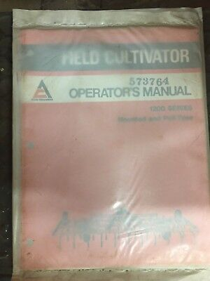 Nos Allis Chalmers Operating Instructionsrepair Parts 1200 Field Cultivator