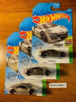 2019 Hot Wheels ZAMAC  '17 ACURA NSX  ~ Lot of 3 ~