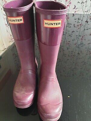 Hunters wellies size 3
