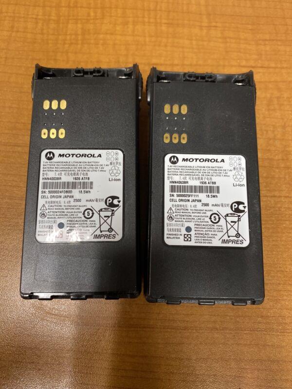 LOT OF 2X Motorola HNN4003BR Impres LI-ON Battery For HT750,HT1250,HT1550 2019