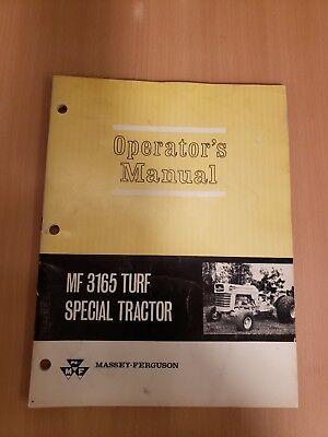 Massey Ferguson 1965  Mf 3165 Turf Special Tractor Operators Manual
