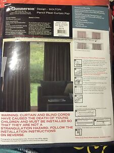 Pencil pleat semi dark grey curtains 240X213cm Rowville Knox Area Preview